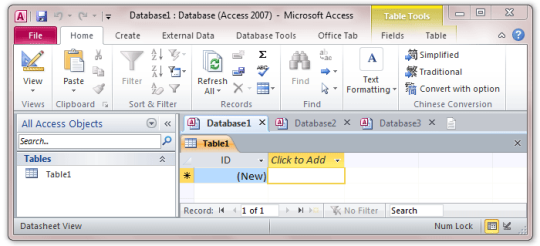Tabs for Access