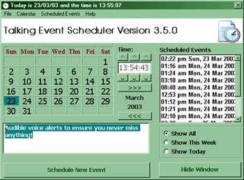 Talking Event Scheduler