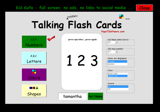Talking Flash Cards (Toddlers)