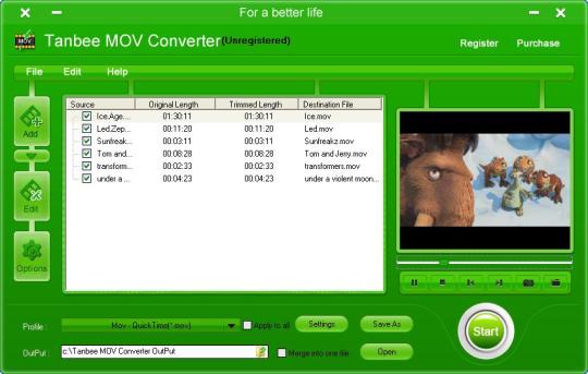 Tanbee MOV Converter