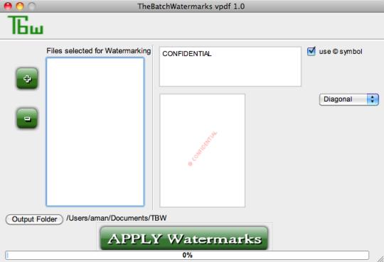 Tbw - PDFWatermarker