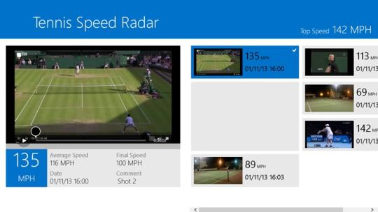 Tennis Speed Radar