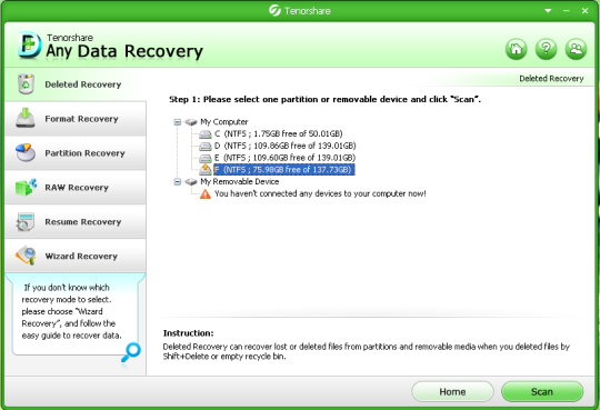 Tenorshare Any Data Recovery Free
