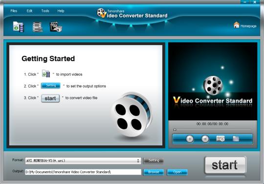 Tenorshare Free Video Converter Standard