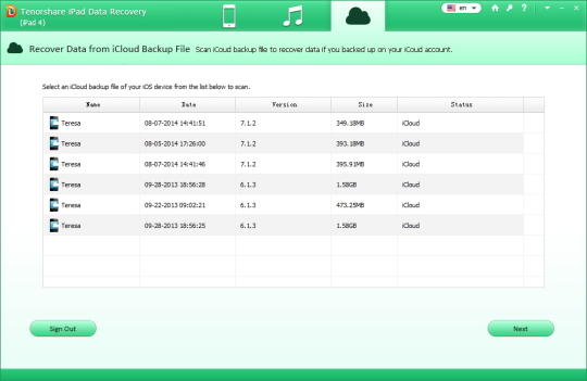 Tenorshare iPad Data Recovery (iPad 4, Mini, 3, 2)