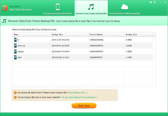 Tenorshare iPad Data Recovery