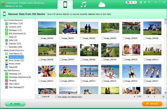 Tenorshare iPhone Data Recovery (iPhone 5, 5s, 5c)