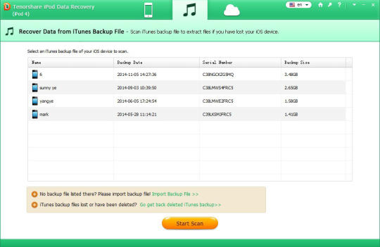 Tenorshare iPod Data Recovery