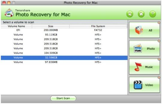 Tenorshare Photo Recovery (Mac)