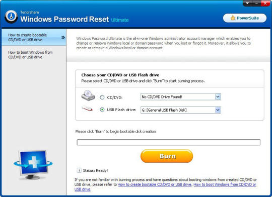 Tenorshare Windows Password Reset Pro