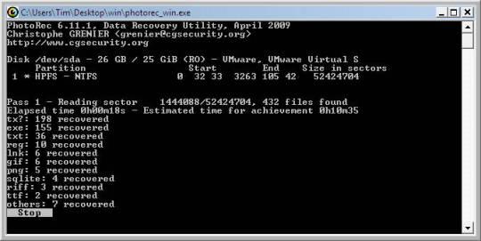 TestDisk and PhotoRec