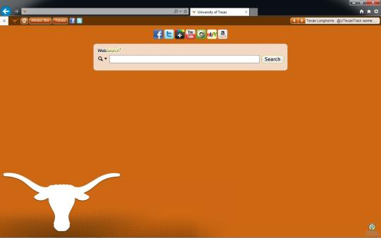 Texas Longhorns Theme for Internet Explorer