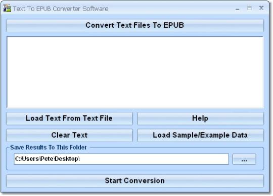 Text To EPUB Converter Software