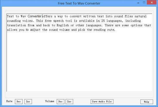 Text to Wav Converter