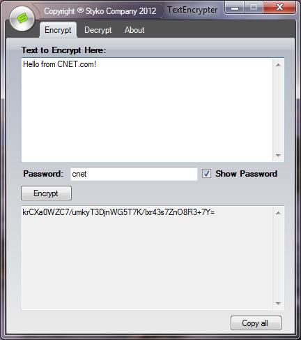 TextEncrypter