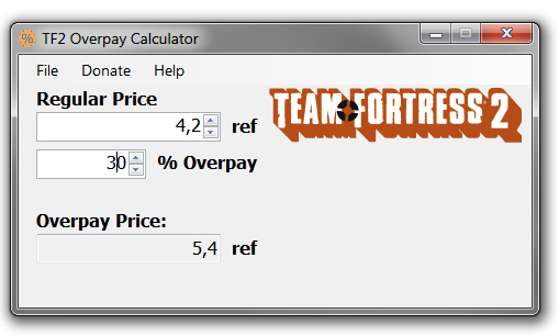 TF2 Overpay Calculator
