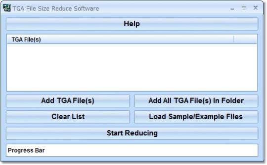 TGA File Size Reduce Software