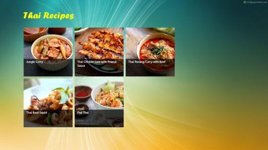 Thai Recipe for Windows 8