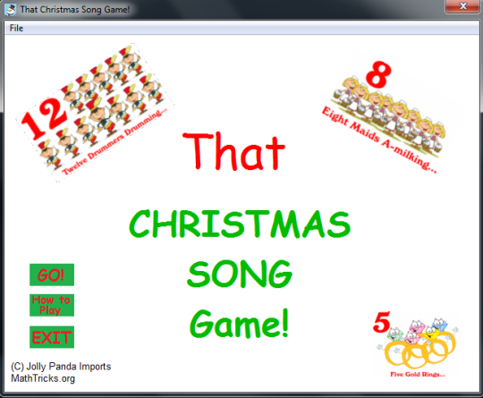 That Christmas Song Game