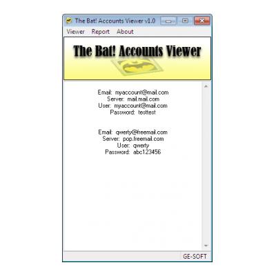The Bat Accounts Viewer