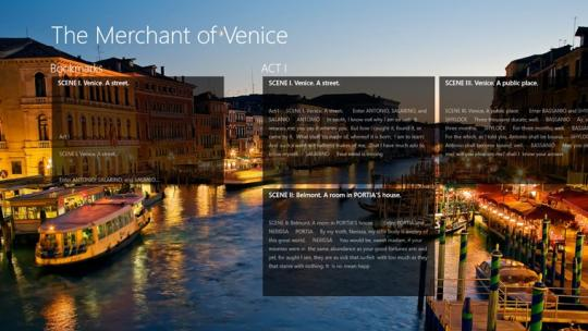 The Merchant of Venice by William Shakespeare for Windows 8
