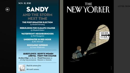 The New Yorker for Windows 8