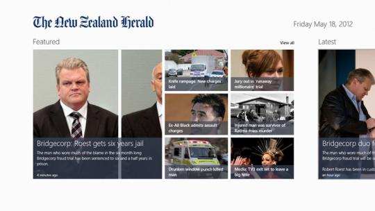 The New Zealand Herald for Windows 8