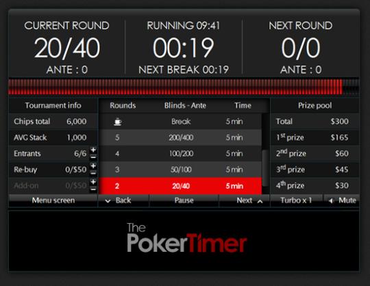 The Poker Timer