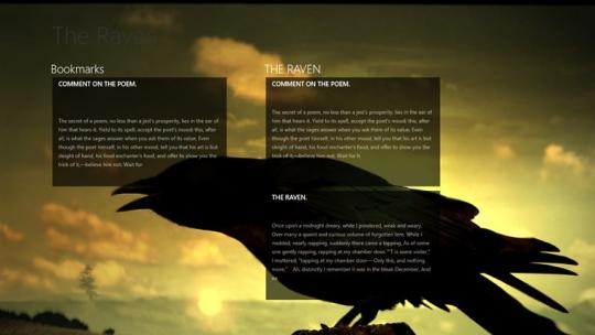 The Raven by Edgar Allan Poe for Windows 8