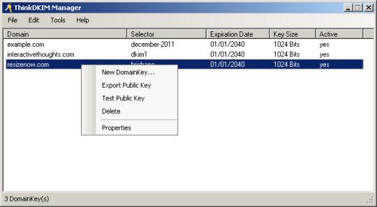 ThinkDKIM for IIS SMTP
