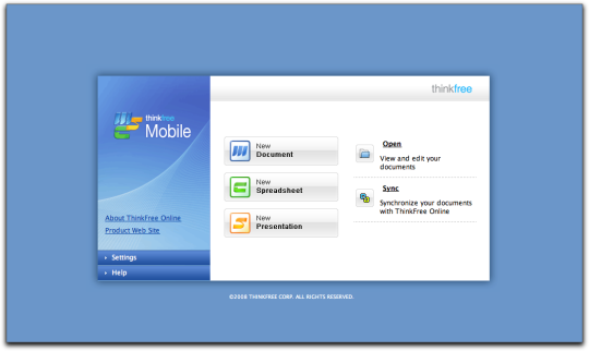 ThinkFree Mobile for Netbook