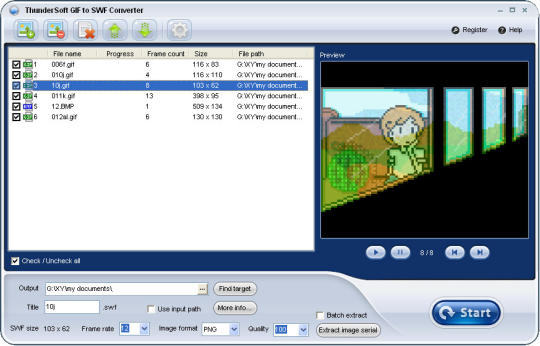 ThunderSoft GIF to SWF Converter