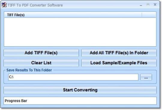 TIFF To PDF Converter Software