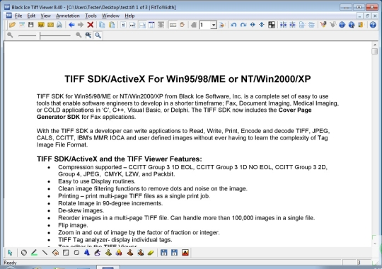 Tiff Viewer for Patents