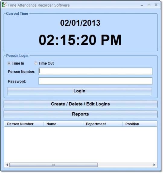 Time Attendance Recorder Software