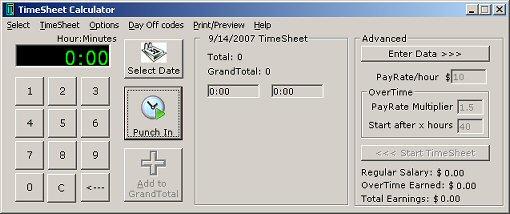 TimeSheet Calculator