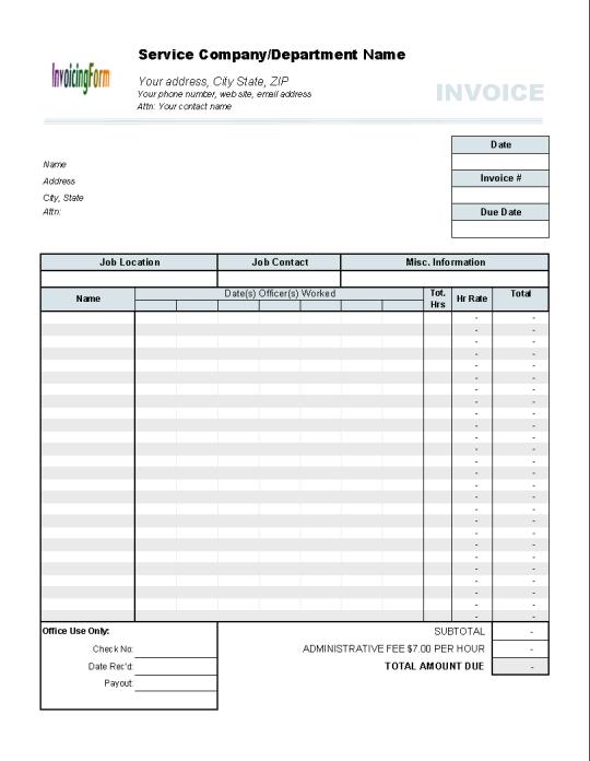 フリーダウンロード timesheet invoice template のために windows