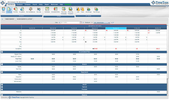 TimeTrex Payroll and Time Management