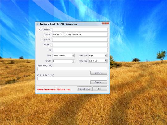 TipCase Text To PDF Converter
