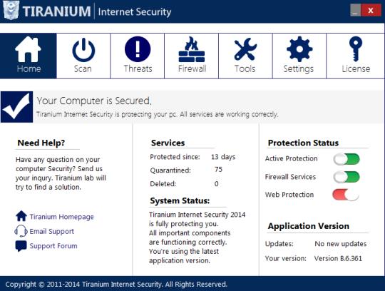 Tiranium Internet Security