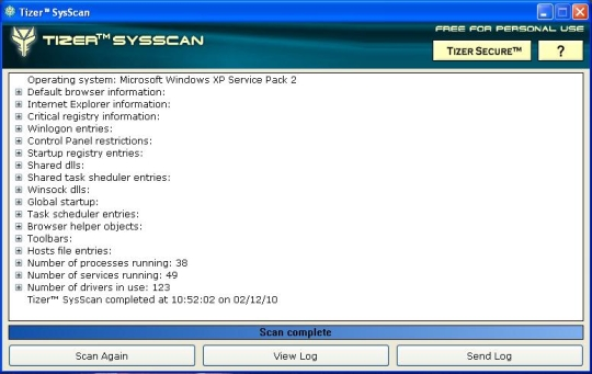 Tizer SysScan