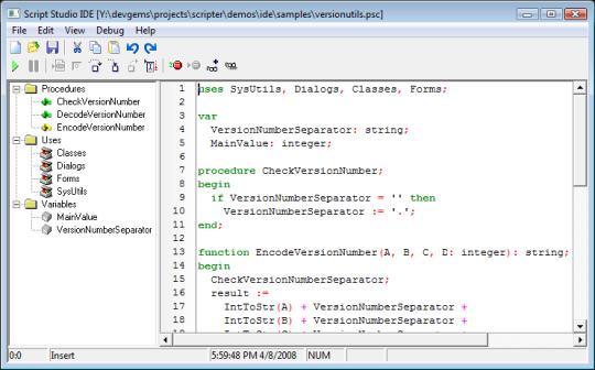 TMS Scripter Studio(Delphi 5)