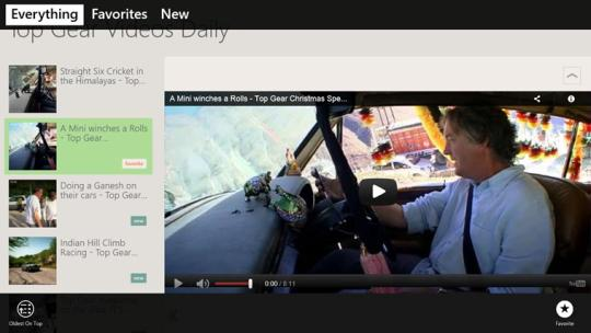 Top Gear Videos Daily for Windows 8