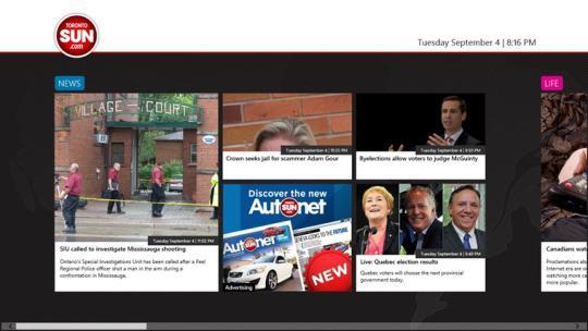 Toronto Sun for Windows 8
