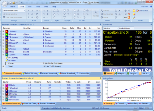 Total Cricket Scorer