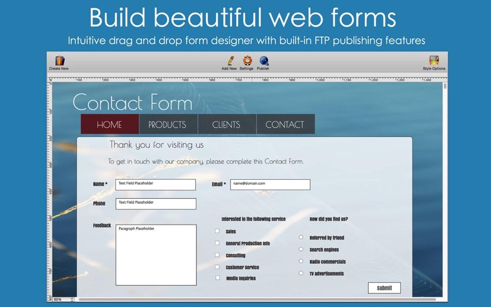 Touch Forms Web Form Builder