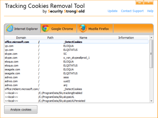 Tracking Cookies Removal Tool