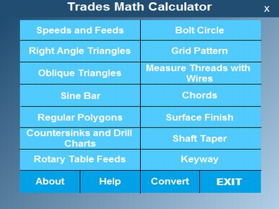 Trades Math Calculator