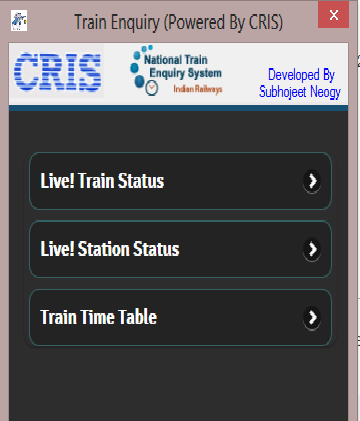 Train Enquiry And Live Status