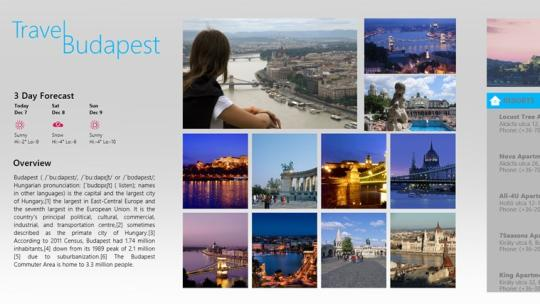 TravelBudapest for Windows 8